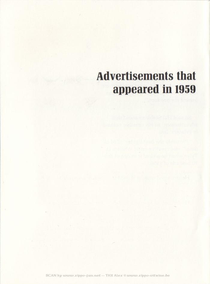 Catalogue Zippo publicitaire de 1958 - 1967 1013