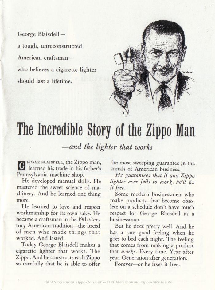Catalogue Zippo publicitaire de 1958 - 1967 1113