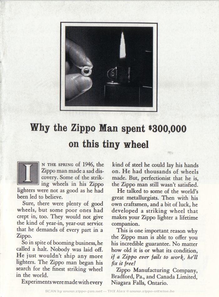 Catalogue Zippo publicitaire de 1958 - 1967 1313