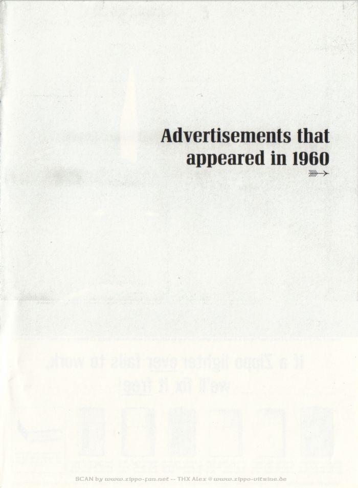 Catalogue Zippo publicitaire de 1958 - 1967 1513