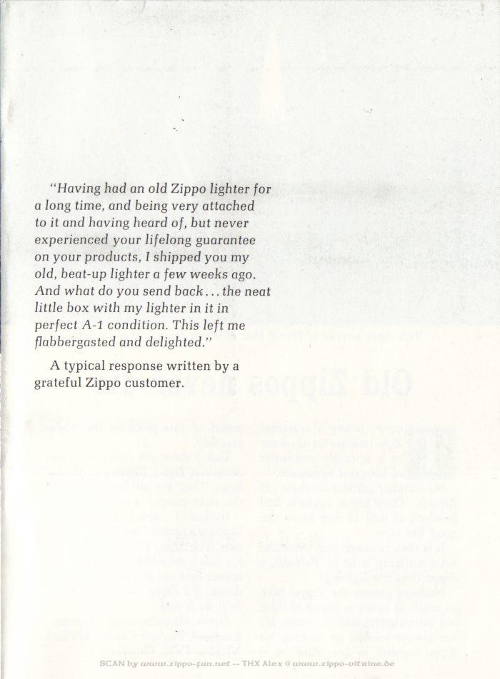 Catalogue Zippo publicitaire de 1958 - 1967 1713