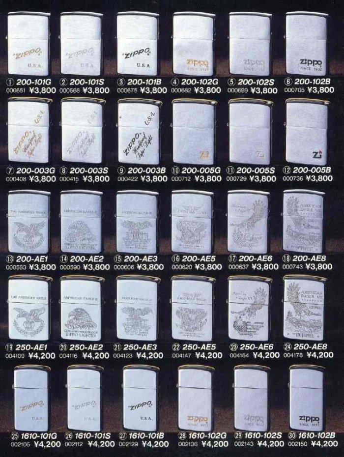 Catalogue ZIPPO 1997 Best selection(Japan version) 1910