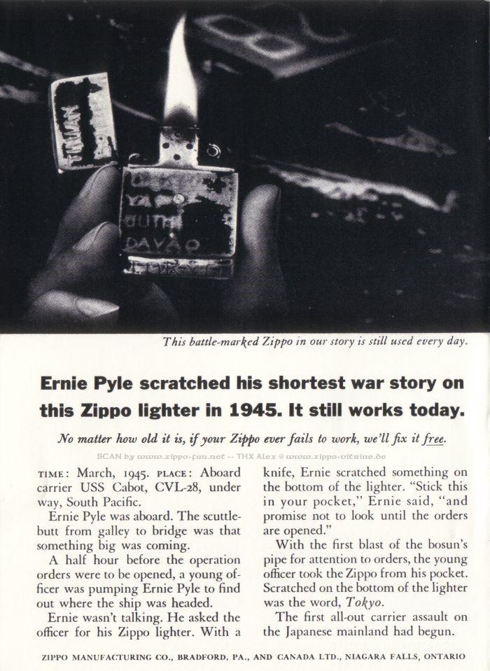 Catalogue Zippo publicitaire de 1958 - 1967 2413