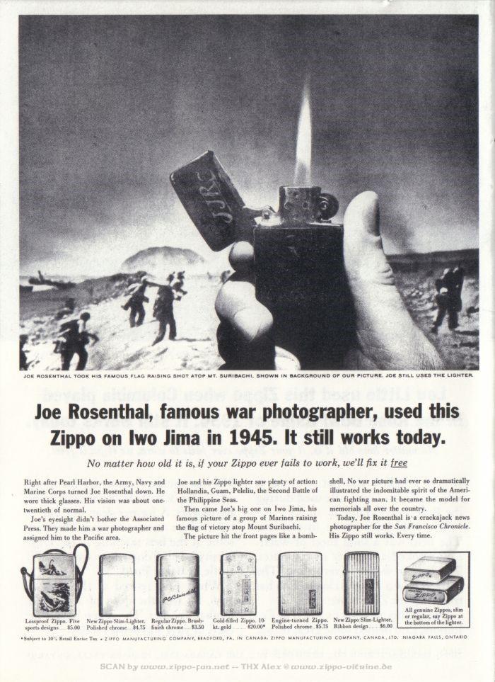 Catalogue Zippo publicitaire de 1958 - 1967 2613