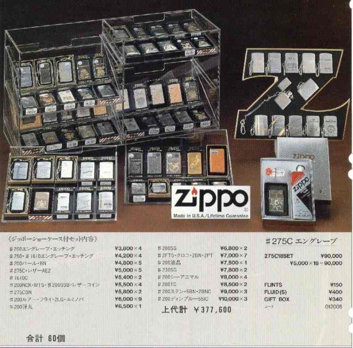 Catalogue ZIPPO 1997 Best selection(Japan version) 2810