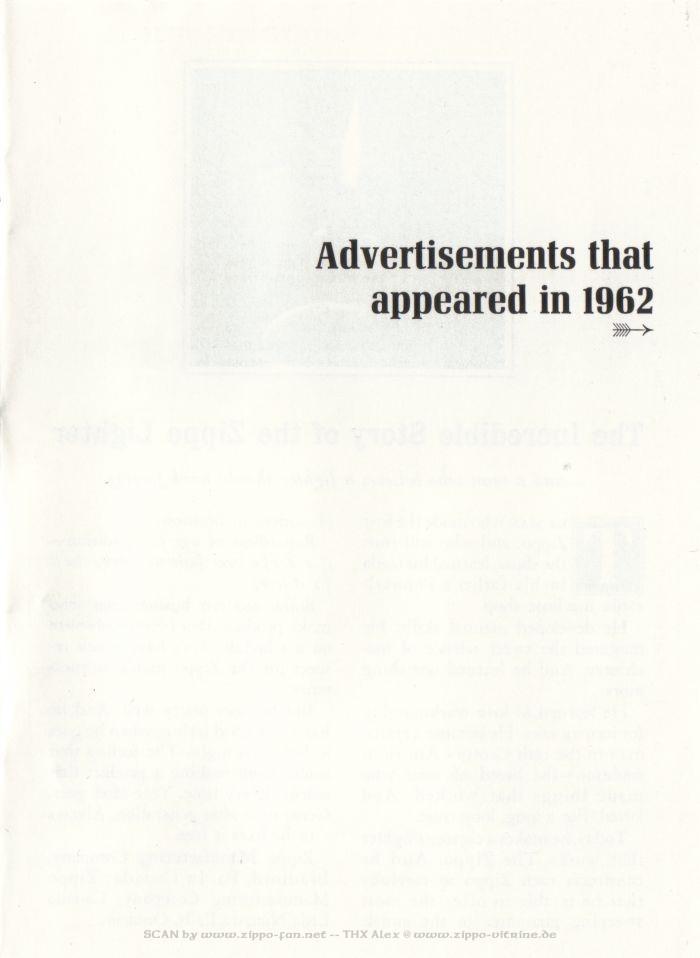 Catalogue Zippo publicitaire de 1958 - 1967 2914