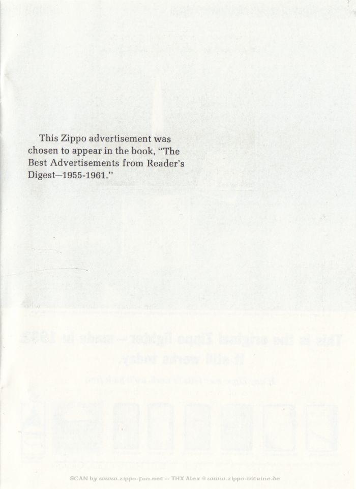 Catalogue Zippo publicitaire de 1958 - 1967 3113