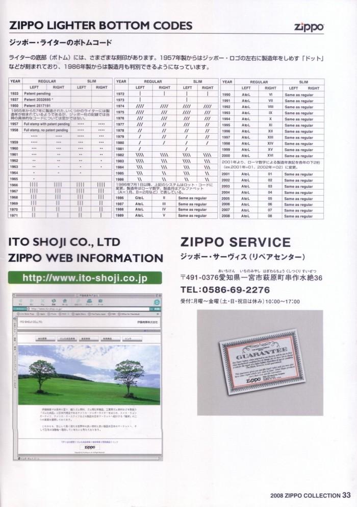 Catalogue ZIPPO 2008 (Japan version) 3514