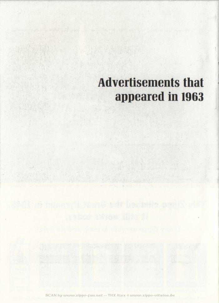 Catalogue Zippo publicitaire de 1958 - 1967 4012