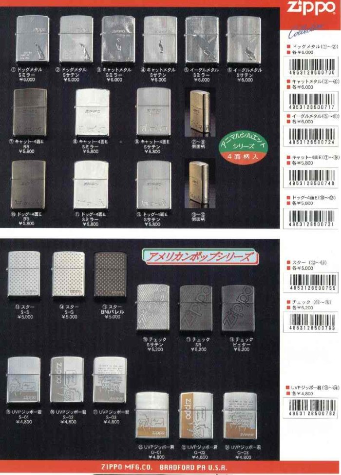 Catalogue ZIPPO 1997 Best selection(Japan version) 4110