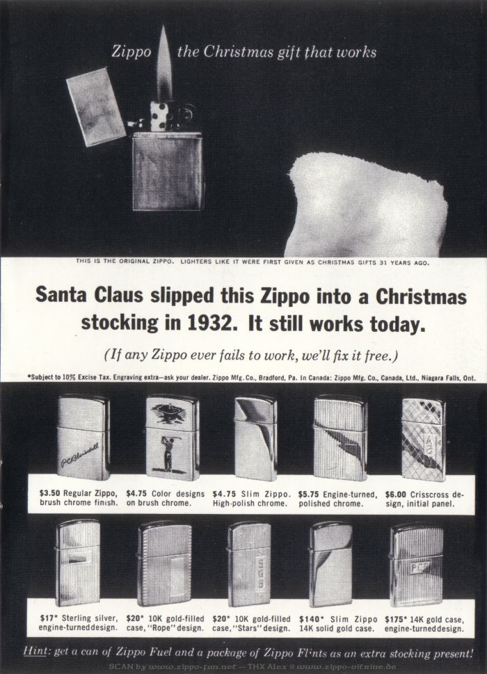 Catalogue Zippo publicitaire de 1958 - 1967 4913
