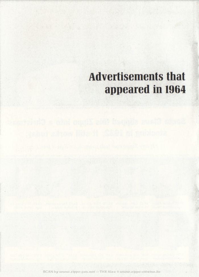 Catalogue Zippo publicitaire de 1958 - 1967 5012