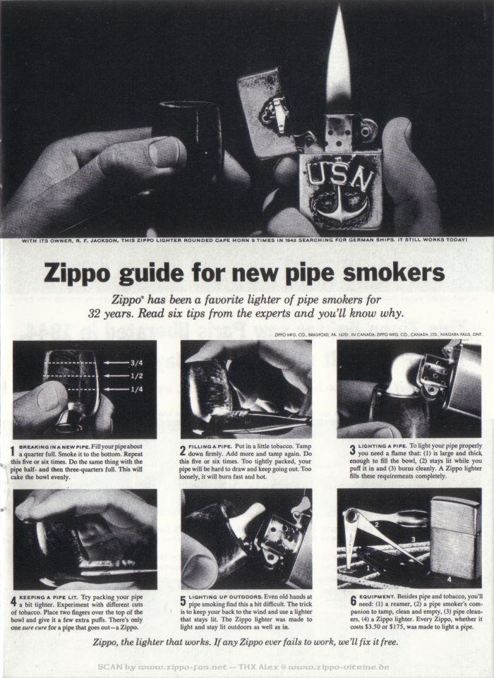 Catalogue Zippo publicitaire de 1958 - 1967 5313
