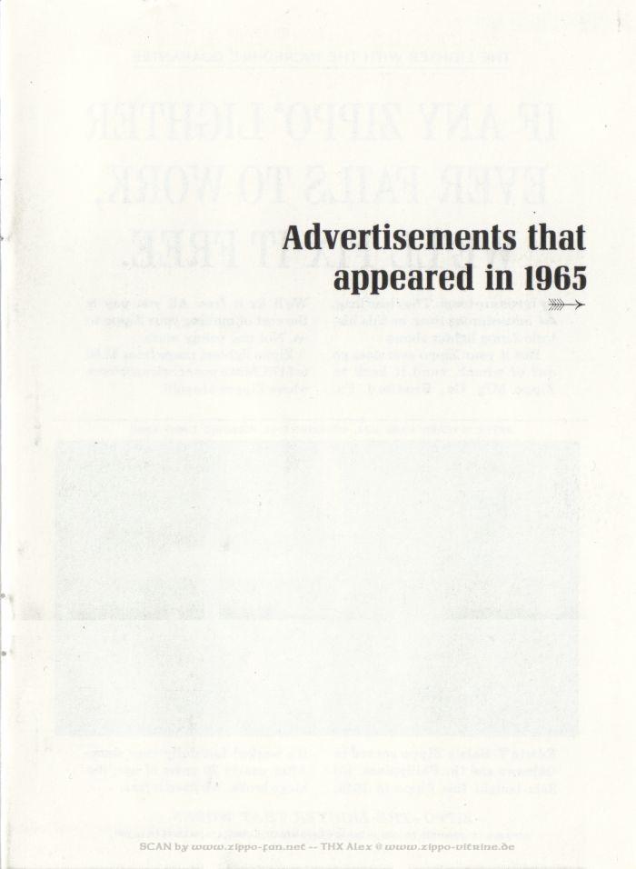 Catalogue Zippo publicitaire de 1958 - 1967 5911