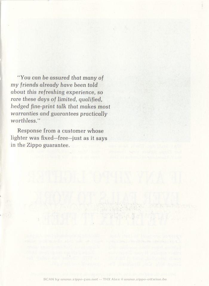 Catalogue Zippo publicitaire de 1958 - 1967 6311