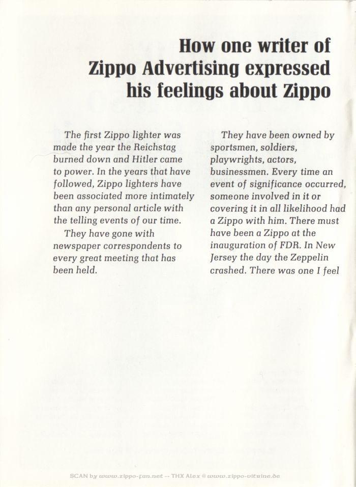 Catalogue Zippo publicitaire de 1958 - 1967 8211