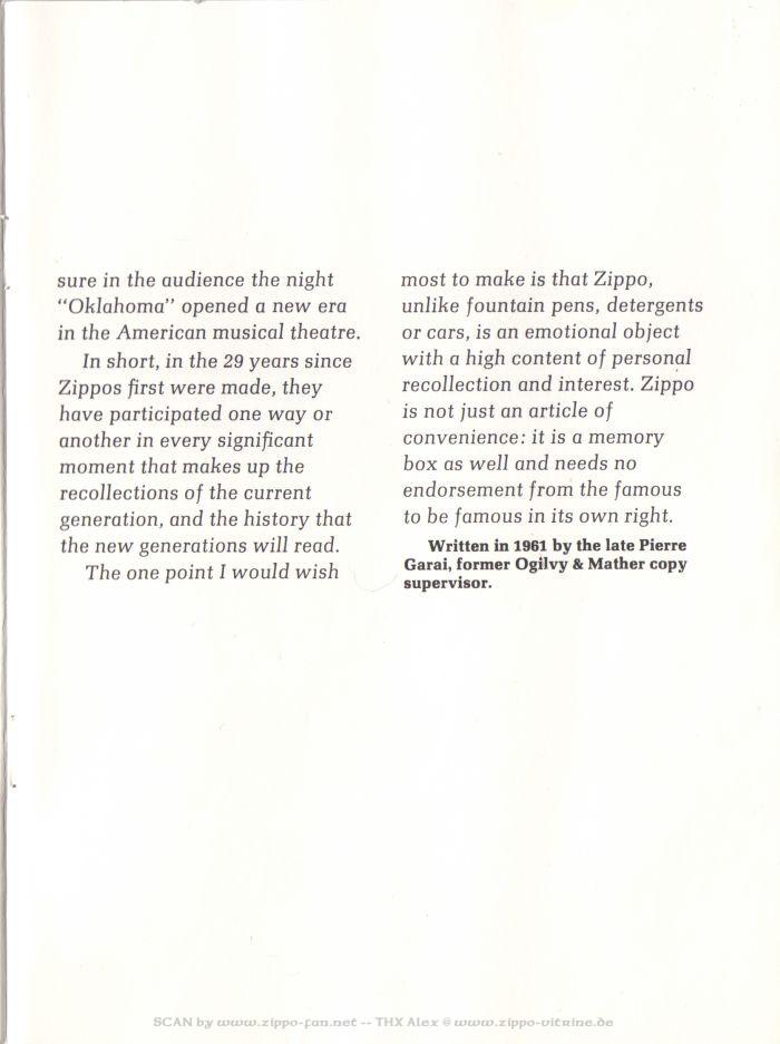 Catalogue Zippo publicitaire de 1958 - 1967 8311