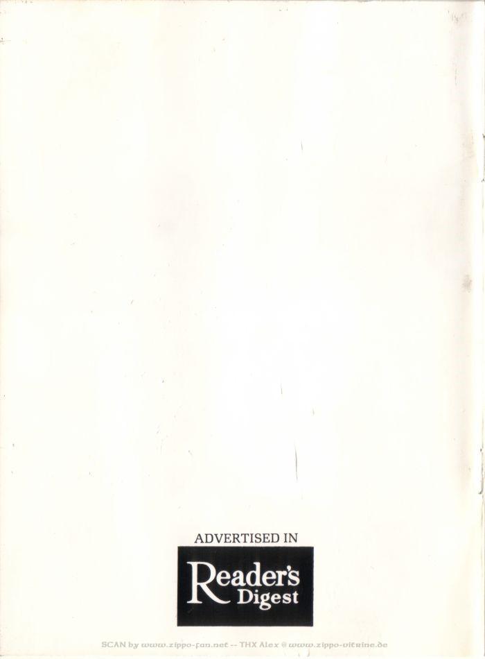 Catalogue Zippo publicitaire de 1958 - 1967 8411