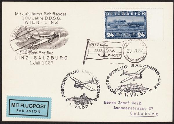 Ältere Flugpost aus Wien Schiff10