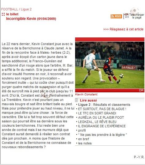 Berrichonne de Chateauroux - Page 2 Kevin110