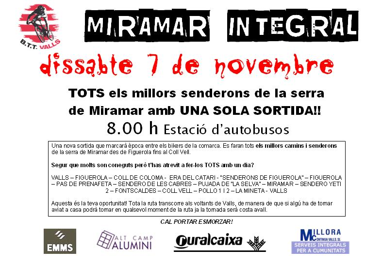Canvi data: 7 de novembre - Miramar Integral Mirama11