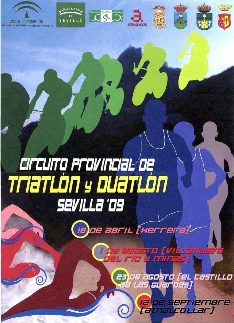 CARTEL CIRCUITO PROVINCIAL TRIATLÓN Y DUATLÓN SEVILLA 09 Triatl10
