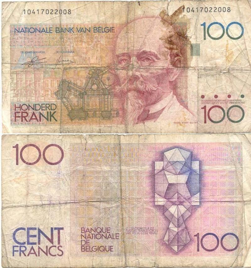 billets et pieces de belgique 100_fr10
