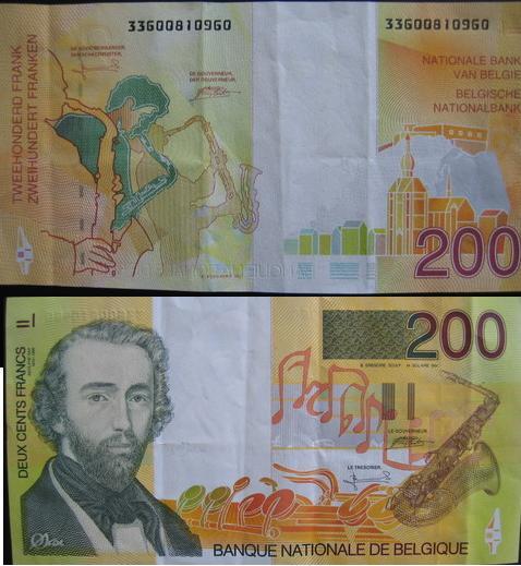 billets et pieces de belgique 200_fb10