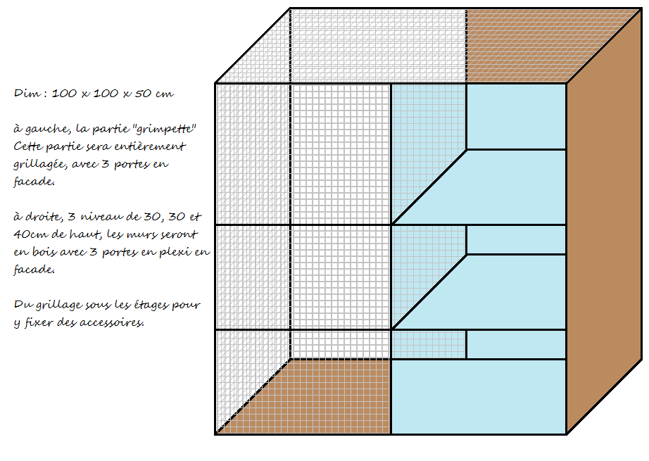 """Mon projet de cage """"maison"""" 1erpro10"""