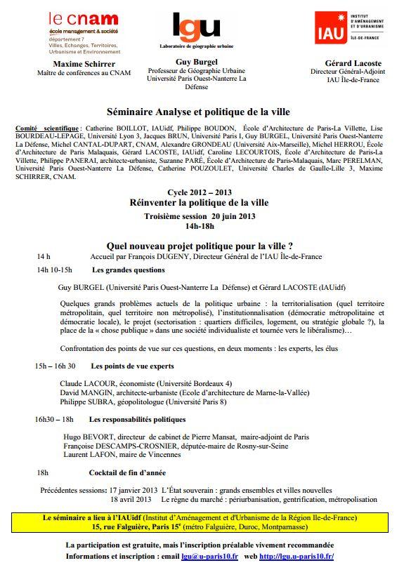 20 juin 2013 - PARIS - Réinventer la politique de la ville Captur10