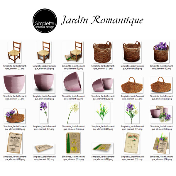 Jardin Romantique Simple80