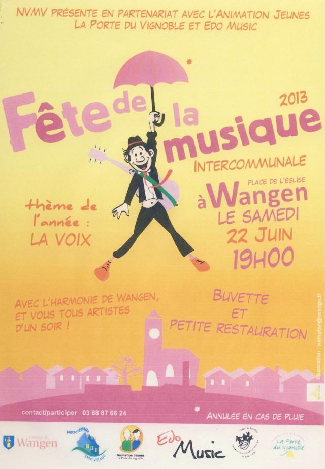 Fête de la Musique à Wangen samedi 22 juin 2013 place de l'église à 19 h Image125