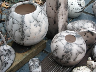 Pottery related...... Horsehair firing Horseh12