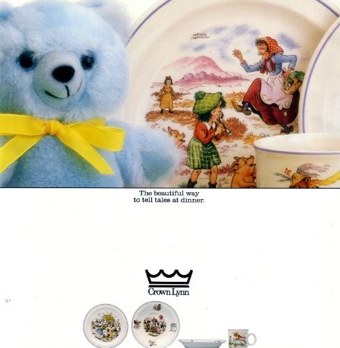 Nursery Tales Crown Lynn Tableware Nurser10