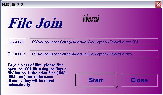 تحميل وشرح برنامج Hjsplit لفك ملفات الافلام بامتدادات مختلفه - صفحة 11 410