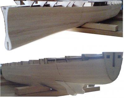 John`s Schlachtschiff Bismarck 1:200 von Amati Bauabs16