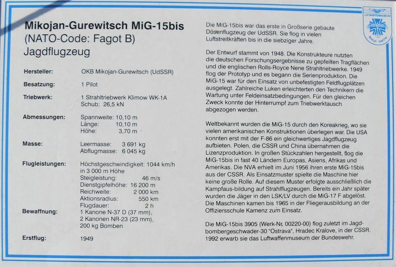 Luftwaffenmuseum Berlin Gatow Mikoja10