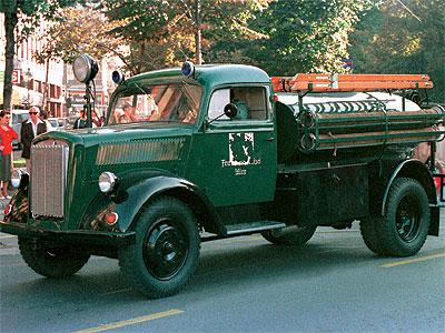 """Opel Blitz Firetruck 1:24 """"Fertig"""" Tank10"""