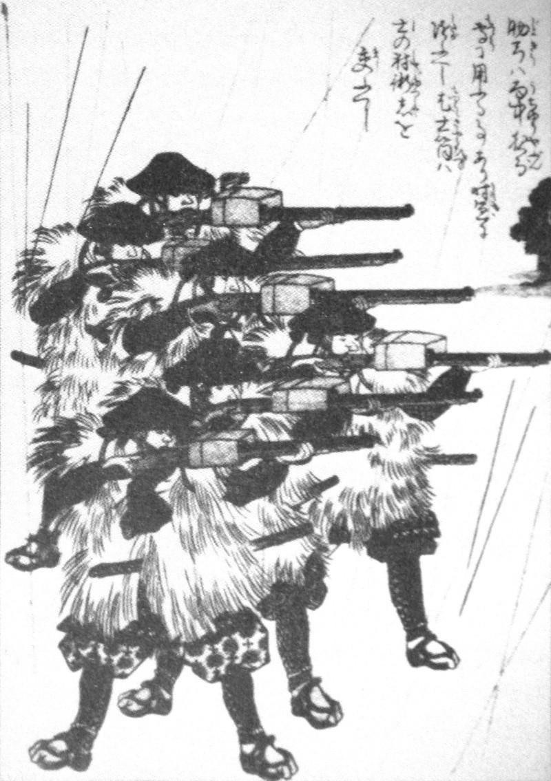 [Japon 19e] Tirer sous la pluie avec un Teppo Lacque10