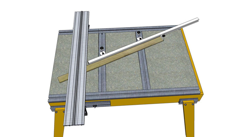 Peter West - Cabinet Makers Table update - Miter Fence Miter-13