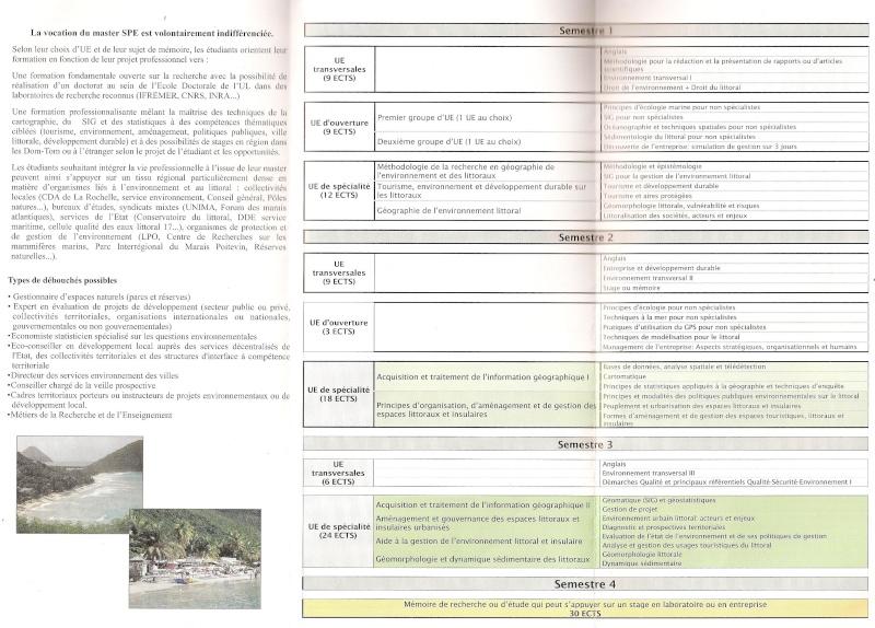 Maquette du master de Géographie appliquée à la gestion de l'environnement littoral et insulaire à La Rochelle Maquet10
