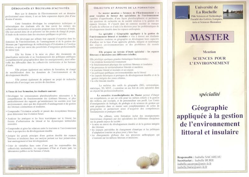 Maquette du master de Géographie appliquée à la gestion de l'environnement littoral et insulaire à La Rochelle Maquet11