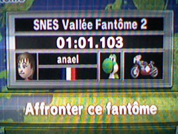 [Mario Kart Wii] Chrono Sur SNES Vallée fantome 2 Classe11
