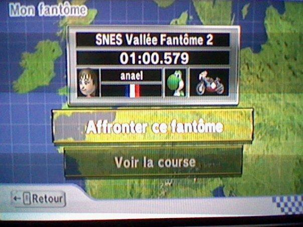 [Mario Kart Wii] Chrono Sur SNES Vallée fantome 2 Classe12