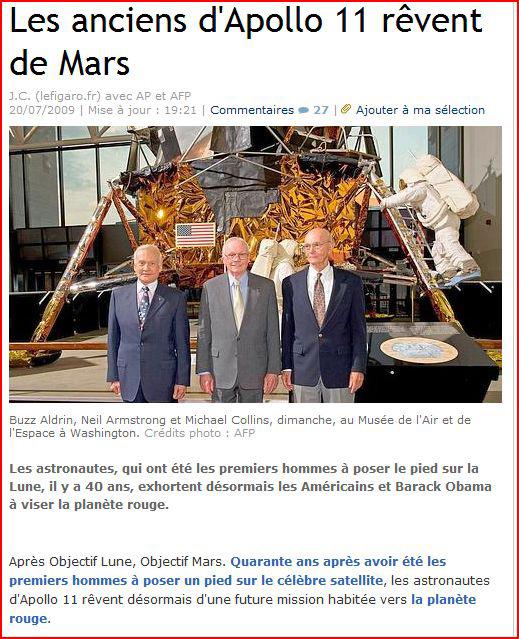 Apollo : revue de presse des quotidiens Apollo10
