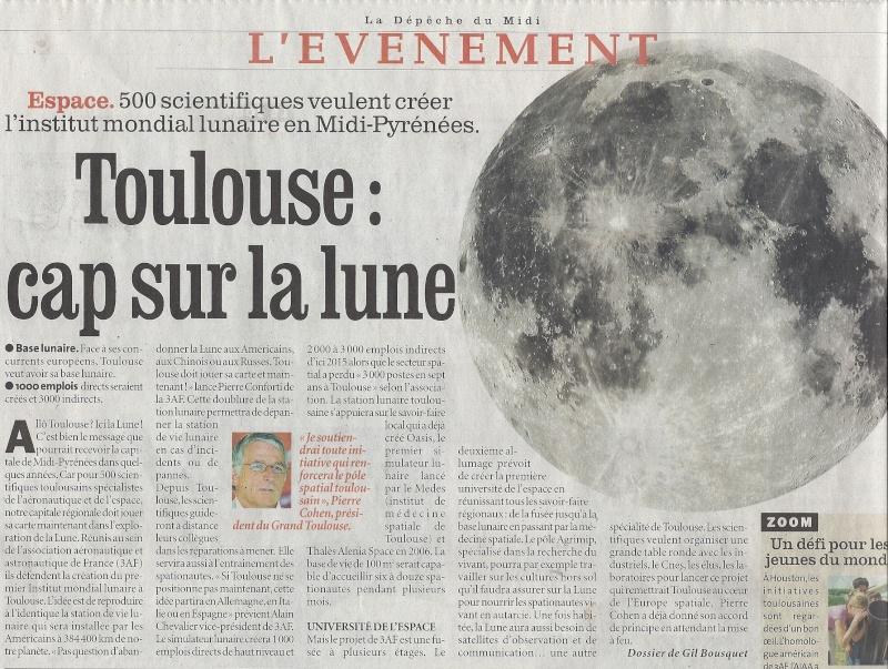 Toulouse futur site de l'institut mondial lunaire : un projet de l'3AF. Numari11