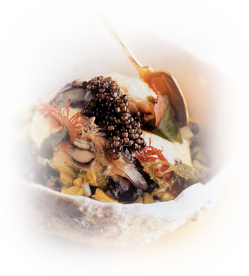 Huitres, tartare d'algues et caviar Huitre11