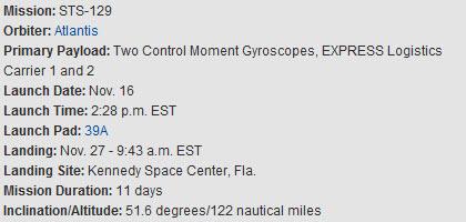 [STS-129] atlantis: suivi du lancement 16/11/2009 - Page 2 16-11-10