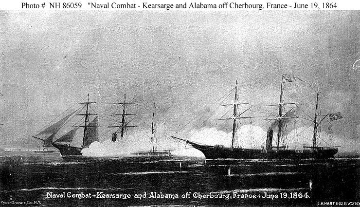 Cherbourg et la Guerre de Sécession H8605910