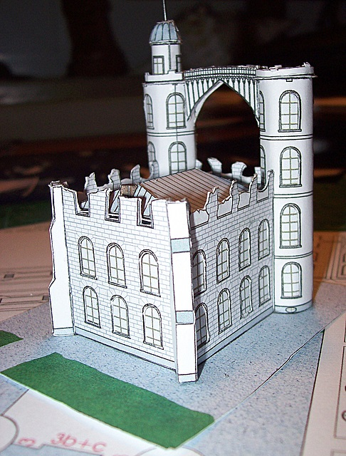 Schloss Pfaueninsel / Bokensdorfer Kartonmodelle 105_2114